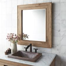 Wood Mirrors Bathroom Chardonnay 29 Inch Weathered Oak Rectangular Mirror Mr131