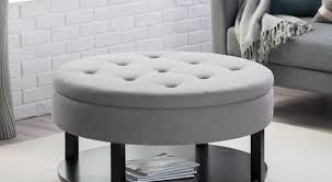 Black Leather Ottoman Coffee Tables Ottoman Coffee Table With Storage Famous Coffee