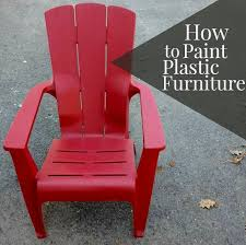 Paint For Outdoor Plastic Furniture by Keep It Beautiful Diy Painting Plastic Furniture