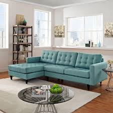 Left Sectional Sofa Empress Left Facing Upholstered Sectional Sofa In Laguna East End