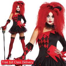 best women s halloween costume ideas womens halloween fancy dress tricksterina jesterina harlequin ebay