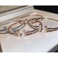 tiffany wire bracelet images Tiffany t wire bracelet in 18k gold with diamonds women 39 s fashion