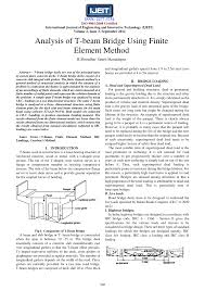 analysis of t beam bridge using finite element method pdf