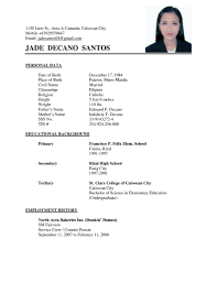 how to write a simple resume format basic resume sle format template best letter word simple for