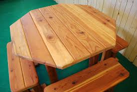 octagon picnic table plans with umbrella hole tbl ang 48 octagon the redwood store