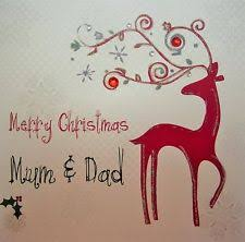 mum dad christmas card handmade ebay