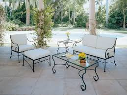 Patio Furniture Wrought Iron Dining Sets - luxury wrought iron patio furniture set eva furniture