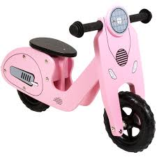 bentley pink charles bentley wooden vespa scooter wooden balance bike age 3