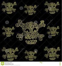 doodle art skull halloween stock vector image 73618102