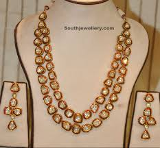long chain necklace designs images Kundan long chain and earrings jewellery designs jpg