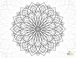 dahlia flower free coloring sheets