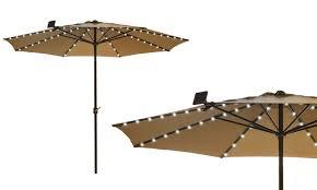Patio Umbrella Lights Led Solar Patio Umbrella Led String Lights 1 2 Or 3 Pack Groupon