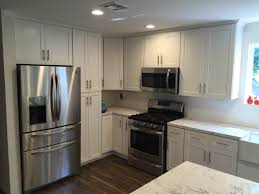 Full Overlay Kitchen Cabinets by White Shaker Full Overlay Kitchen Cabinets With Quartz Carrara
