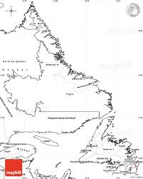 Blank Map Of Canada by Blank Simple Map Of Newfoundland And Labrador