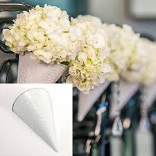 pew decorations for weddings wedding aisle flower cones pew cones wedding decorations flower