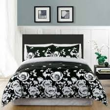 White Black Comforter Sets King Size 5 Piece Damask White Black Comforter Set Black