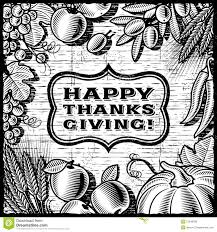 white thanksgiving thanksgiving retro card black and white royalty free stock photos