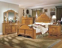 Oak Bed Set Solid Oak Bedroom Sets Wrap Around Oak Wood Bedroom Furniture Set