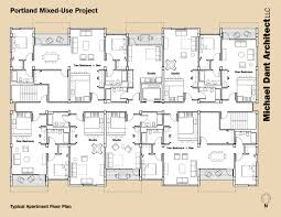 apartment building floor plan commercial michael dant architect