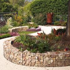 how to build a curved gabion wall gardendrum
