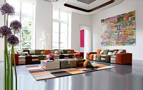 living room modern colorful living room decor with colorful