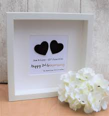 3rd wedding anniversary gift 3rd wedding anniversary gift tin leather contemporary frame
