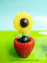 fruit flower snack for mother u0027s day kitchen fun with my 3 sons