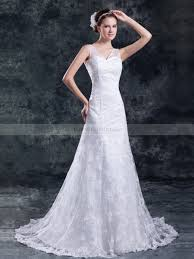 wedding dress overlay v neck sequined a line wedding dress with lace overlay