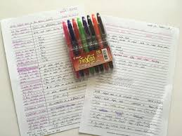 how to organize and color code your notes for college or