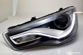 audi headlights sw drl tube headlights audi a1 type 8x 10 14 led drl black