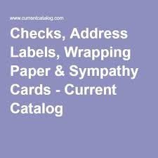 checks address labels wrapping paper sympathy cards current