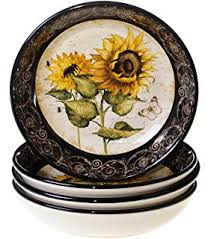 sunflower canister sets kitchen certified international sunflowers 3