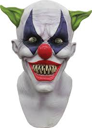 faceless mask halloween giggles clown mask mad about horror