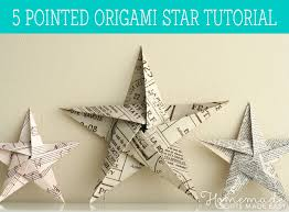 home made xmas decorations folding 5 pointed origami star christmas ornaments