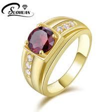 gold male rings images Suohuan super male ruby jewelry garnet men ring cz diamond 18 k jpg