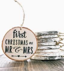 couple u0027s first christmas birch wood ornament wood ornaments