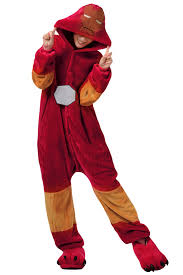 Halloween Iron Man Costume Ruby Cute Iron Man Flannel Womens Jumpsuit Pajamas Costume Pink