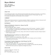 warehouse resume summary of qualifications exles for movies warehouse resumes inventory management resume sles control