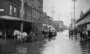 Portland City Flag 1894 Historical Flood Picture In Downtown Portland Oregon Wow