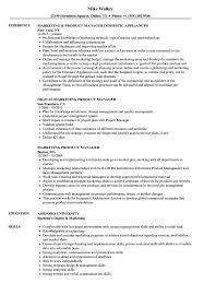 marketing product manager resume samples velvet jobs