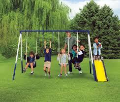 sportspower grove park 4 leg metal swing set shop your way