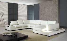 White Leather Sofa Modern Modern Leather 5 Sectional Sofa In White