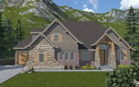 charmonix a rambler mountain rustic style house plan walker