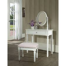 White Vanity Set For Bedroom Princess Bedroom Vanity Set With Mirror And Bench White Walmart Com