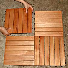 Teak Patio Flooring by Interlocking Deck Tiles Snapping Slat Outdoor Backyard Patio