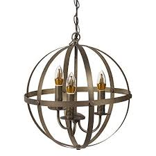 Chandelier Metal Extremerebate Neutype Orb Chandelier 3 Lights Ceiling Pendant