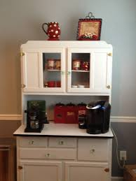 coffee bar in a hoosier cupboard coffee bar pinterest