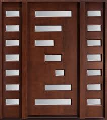 Metal Front Doors For Homes With Glass by Furniture Brown Wooden Door With Glass And Double Sidelite With