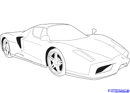 car ferrari 458 drawn vehicle ferrari 458 spider pencil and in color drawn