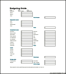 weekly budget planner template pdf sample templates